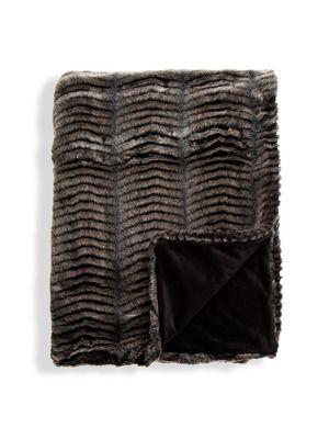 donna salyers fabulous - furs GILT limited edition faux fur throw
