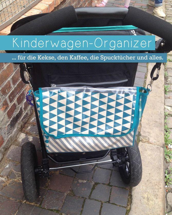 Baby Accessories Kleine Tasche aus Wachstuch, auch genannt: Kinderwagen-Organiser!