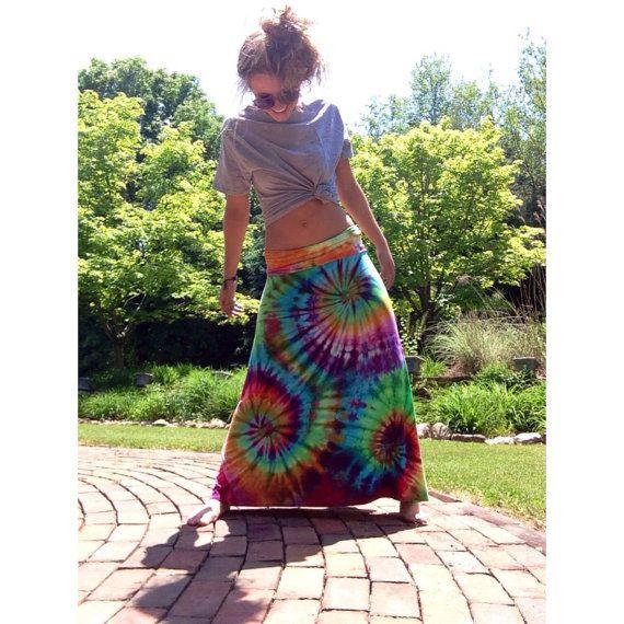 Tie Dye Hippie Hippy Maxi Skirts  Get one custom by KBuckCreations, $50.00
