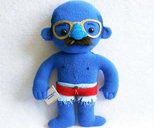 Oh Sweet love of Arrested Development. A plush Tobias Funke never nude blue man doll.