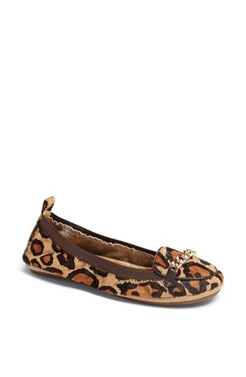 $91, Orly Foldable Flat Tan Leopard 7 M by Yosi Samra. Sold by Nordstrom. Click for more info: http://lookastic.com/women/shop_items/74877/redirect