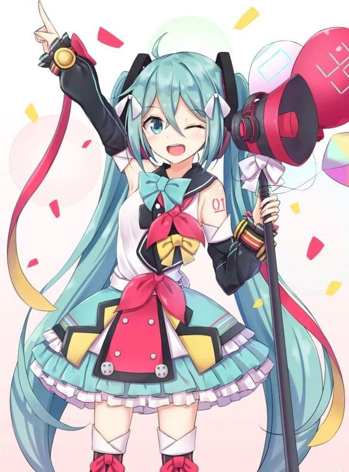 Htsune Miku Vocaloid Kawaii Anime Hatsune Miku Anime Chibi