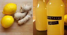 Boosta ditt immunförsvar! Gör en ingefärsshot med citron