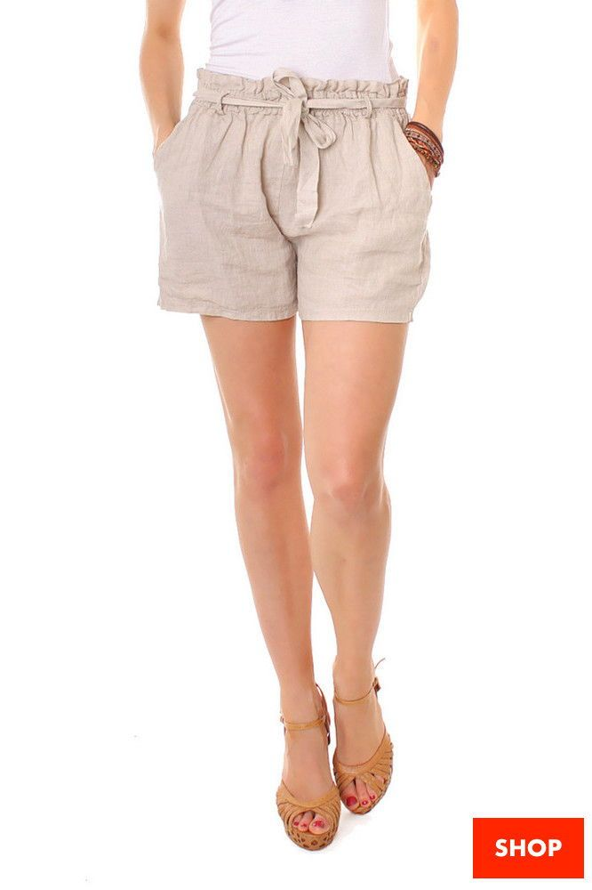 Leinen Shorts Sommer Outfit Urlaubs Outfit Damen Shorts Kurze Hose Frauen Kurze Hosen Frauen Outfit Hot Pants