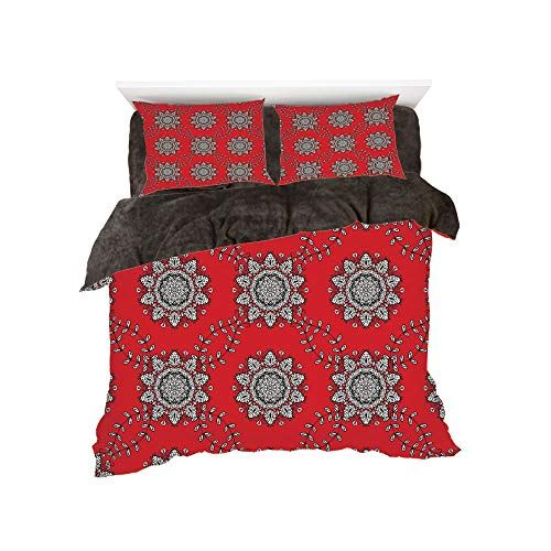 50812cda9f2e Flannel 4 Pieces on The Bed Duvet Cover Set 3D Printed for Bed Width ...