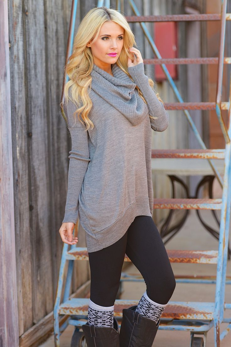 "Where Sweet Time Takes Us Sweater - Grey from Closet Candy Boutique Use code ""repjennifer"" for 10% off and FREE shipping!"
