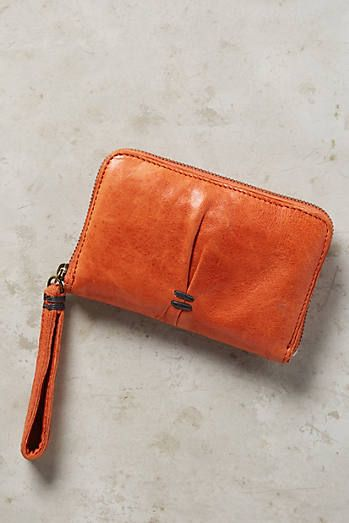 Tangerine Pleated Wallet
