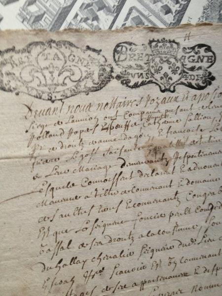 French handwritten document - 1700s FleaingFrance Brocante Society