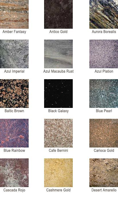 Marble Types And Colors : Best images about granite color on pinterest