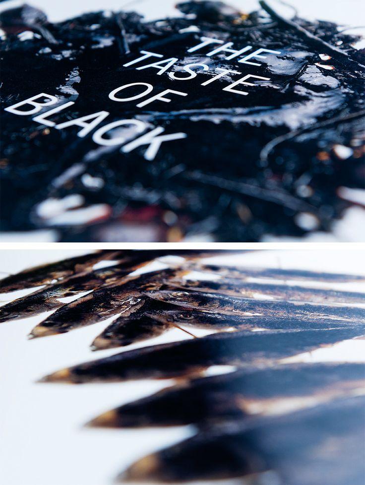 En kokbok med svart mat togs fram av reklambyrån Rönnberg McCann, kocken Jonas Borssén och fotograf Björn Lindberg. Black olive spread, Black eel satay och Cannelloni Nero var några av rätterna.