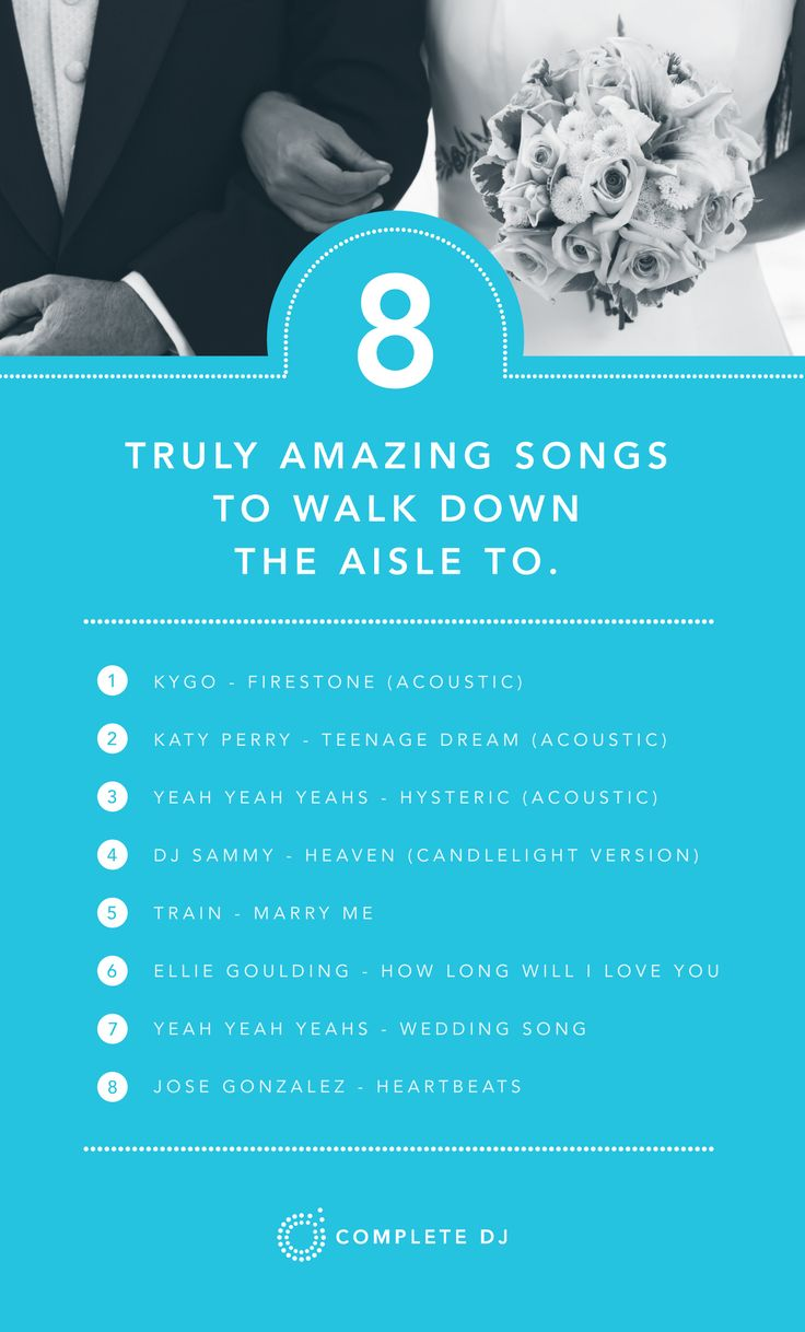 Walking down the aisle is such a special part of the day. Here is a few less traditional walking down the aisle songs to create that magical moment.