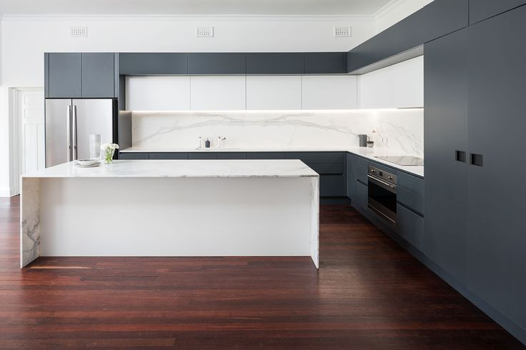 Claremont - Kitchen, Bathroom & Laundry - Renovation by Retreat Design    #arrital #marble #cabinetry #islandbench #kitchen #kitchendesign #renovation #modern