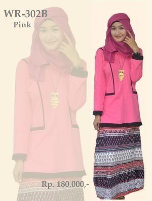 Baju Stelan Katun + Kaos Remaja Model WR 302B Pink