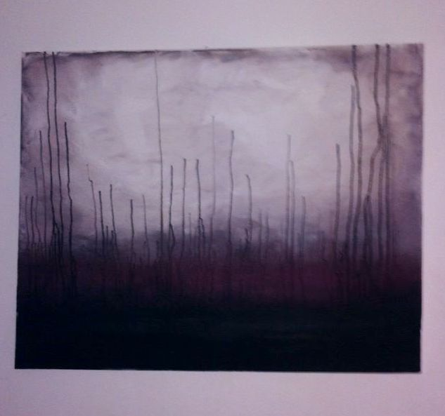 Red Forest - Acrylic on Canvas - £40
