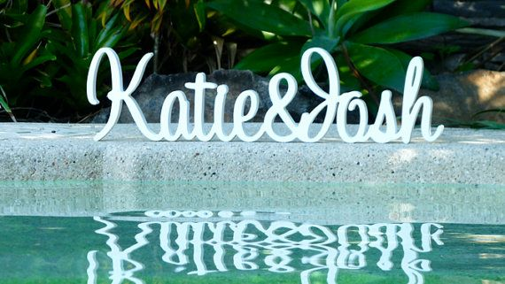 Wooden wedding name signs. Make your own unique table decorations and centrepieces with my stunning wooden wedding Signs. White is the most popular choice for wedding signs, however feel free to contact me if you would like another colour than the ones lisied. If you like a little bling I have silver, gold and white glitter that will add the perfect sparkle to your wooden wedding name.   * Name+Name wooden wedding sign. * Choose either 15cm x 18cm high. Both are 18mm thick.  * All wooden…
