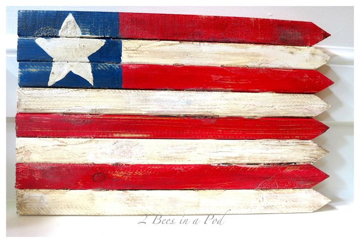 DIY USA Wooden Flag Made with Grade Stake Pickets