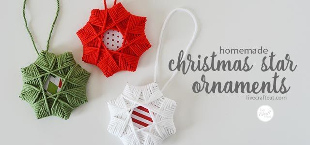 Make this easy DIY Christmas tree star ornament by weaving yarn around cardboard squares. Easily doable for kids and adults and cute enough for your tree!
