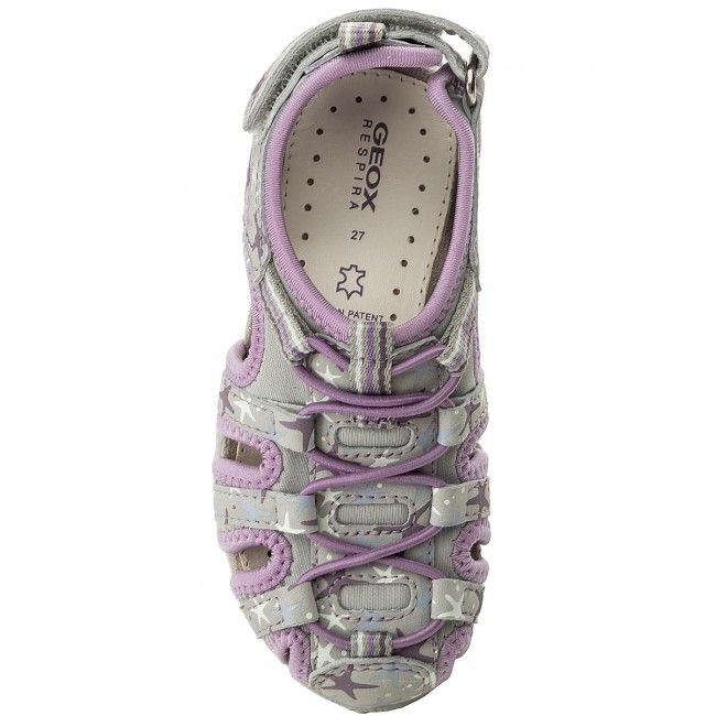658be57ede Sandály GEOX - J S.Roxanne C J52D9C 0CE15 C9013 S Lt Grey Lilac