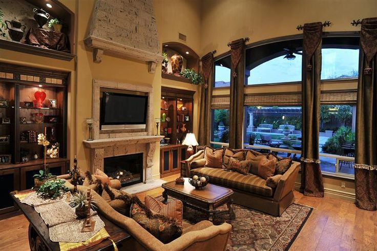 Gorgeous tuscan living room room ideas for the home pinterest fireplaces style and Tuscan home interior design ideas