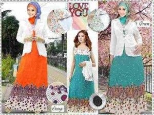 Model baju muslim modern modis Km260