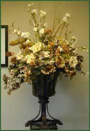tall flower arrangements | ... Floral Arrangements, Mediterranean style artificial flower