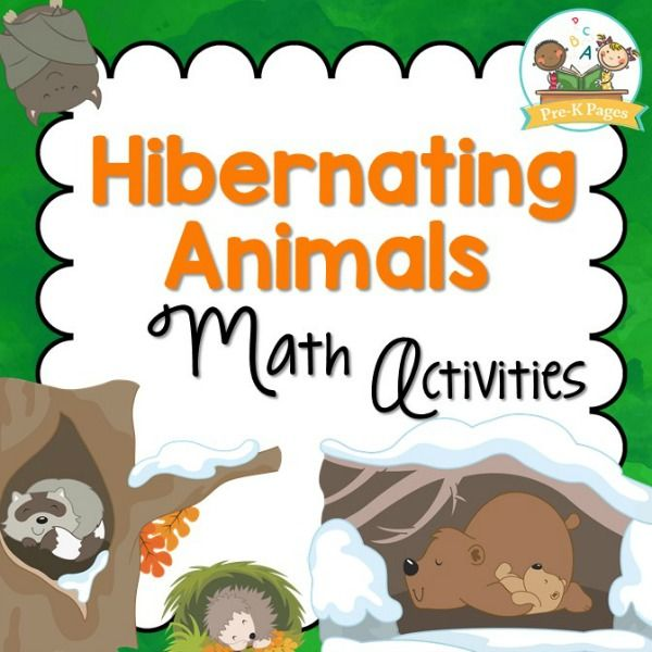 69 pages of hibernating animal themed math activities to help your preschool, pre-k, or kindergarten students develop strong number sense skills.