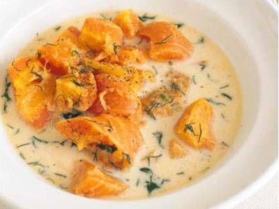 高山 なおみさんの「春にんじんの蒸し煮スープ」のレシピページです。にんじんを主役にすえて、持ち味をしっかり出した、スープというよりは、少なめの水で蒸し煮にした一品です。 材料: にんじん、バター、固形スープの素、黒こしょう、生クリーム、ディル、塩、黒こしょう