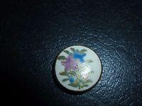 Vintage Satsuma Japanese Ceramic Button Flower Bells Marked Stamped