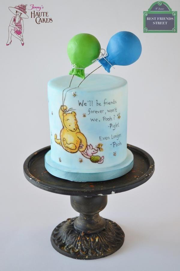 Pooh & Piglet Best Friends Day Collaboration - Cake by Jenny Kennedy