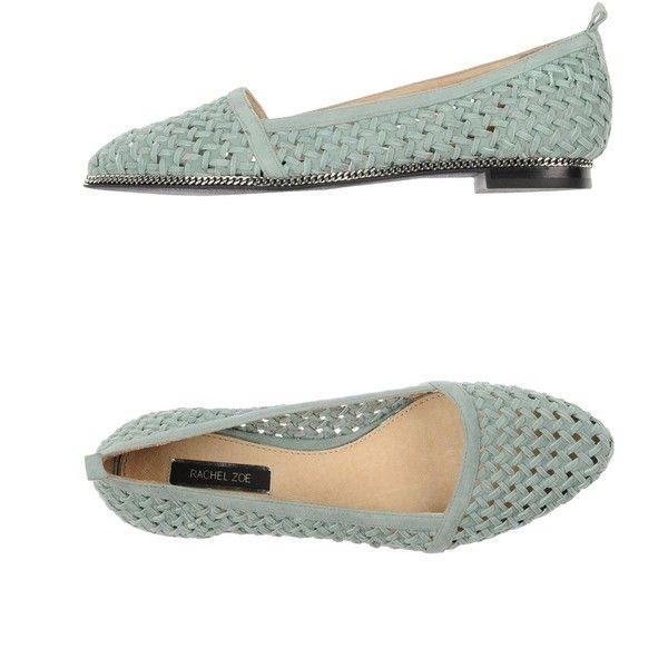 Rachel Zoe Ballet Flats ($80) ❤ liked on Polyvore featuring shoes, flats, light green, ballet shoes, ballet pumps, skimmer flats, rachel zoe shoes and ballet shoes flats