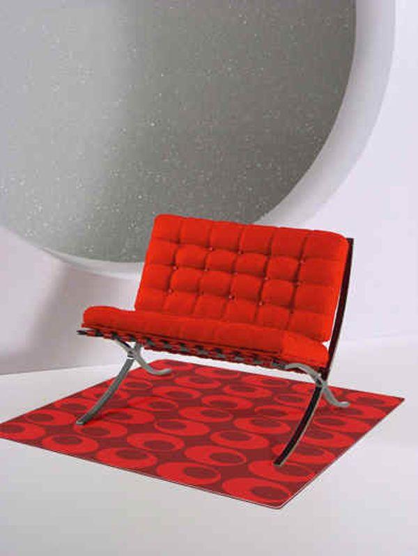 Perfect Jason Wu Fashion Royalty Mid Century Luxury Decor Barcelona Sofa Chair RED