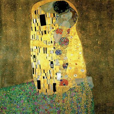 El beso  (Der Kuss)  obra del pintor austríaco Gustav Klimt, simbolista Es un óleo sobre lienzo. Es una tela con decoraciones y mosaicos y  la aplicación de los colores dorados, el adorno de las ropas y detalles florales. En esta obra se refleja el erotismo. Trabajaría esta obra como disparador de la creación literaria, específicamente de poemas, ya que primero trataría que describan las sensaciones , sentimientos , ritmo, color. Y luego trabajaría con los Besos de Gabriela Mistral.