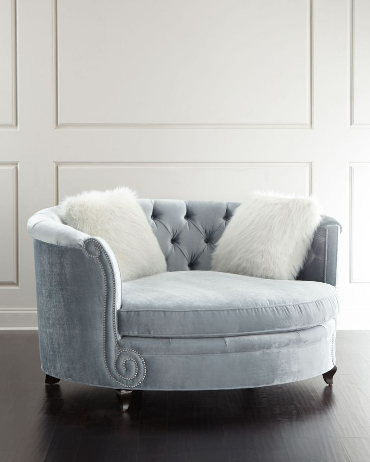Haute House Harper Tufted Cuddle Chair