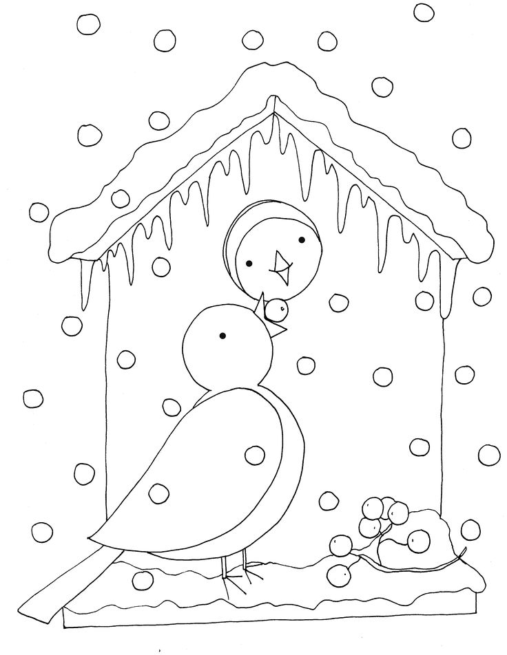 Dearie dolls winter birdies