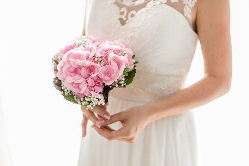 Bride, Strauss, Wedding, Married