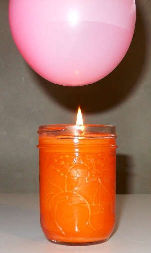 As the water-filled balloon gets closer to the candle, what will happen?