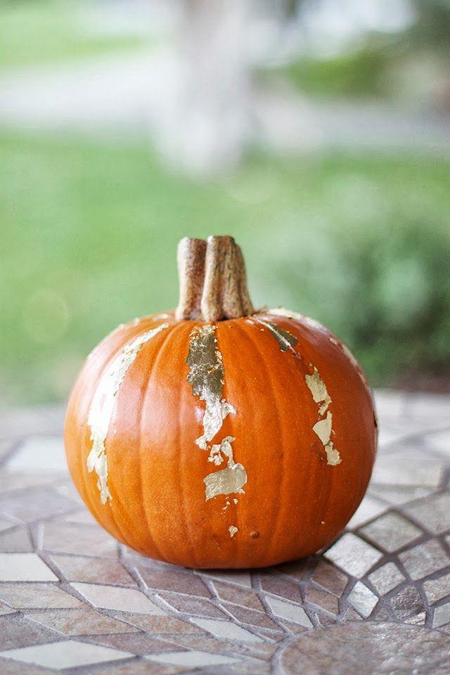 DIY Gold Leaf Pumpkin tutorial