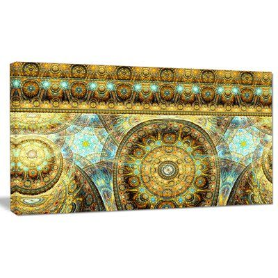 """DesignArt 'Brown Extraterrestrial Life Cells' Graphic Art on Wrapped Canvas Size: 12"""" H x 20"""" W x 1"""" D"""
