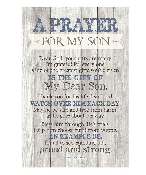 Thank You Lord For My Son Quotes: Look At This 'Prayer For My Son' Wood Plaque On #zulily