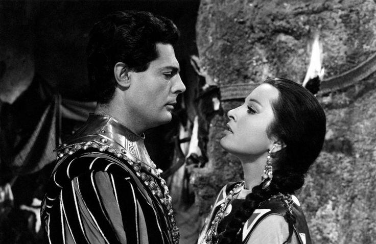 with Marcello Mastroianni in La principessa delle Canarie (Paolo Moffa, 1954)