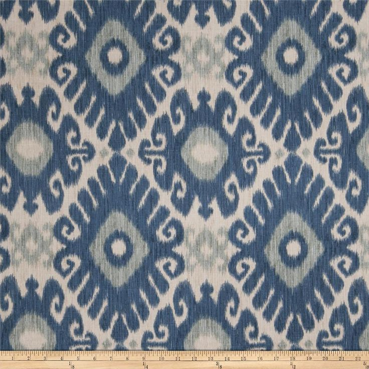 Jaclyn Smith 02606 Linen Blend Indigo from @fabricdotcom  Screen-printed on a linen/rayon blend, this versatile medium/heavyweight fabric features slubs and is perfect for most window treatments (draperies, valances, curtains), accent pillows, duvet covers, slipcovers, ottomans, upholstery and tote bags.