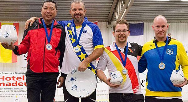 Championnat d'Europe individuel 2016 à Halmstad en Suède, le Podium