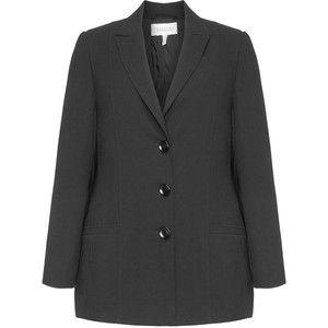 Chalou Black Plus Size Pocketed blazer