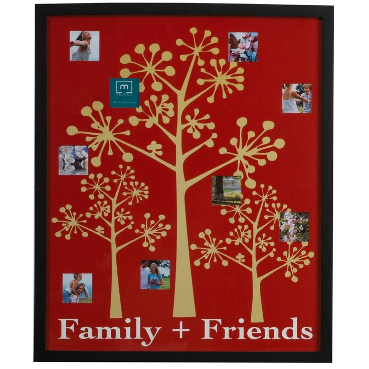 Melannco 9-opening Family and Friends Collage Frame (Melannco 9 Opening Family AND Friends Collage), Black