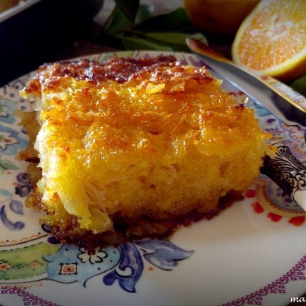 Πορτοκαλόπιτα, αφράτη, μυρωδάτη από την Mamatsita