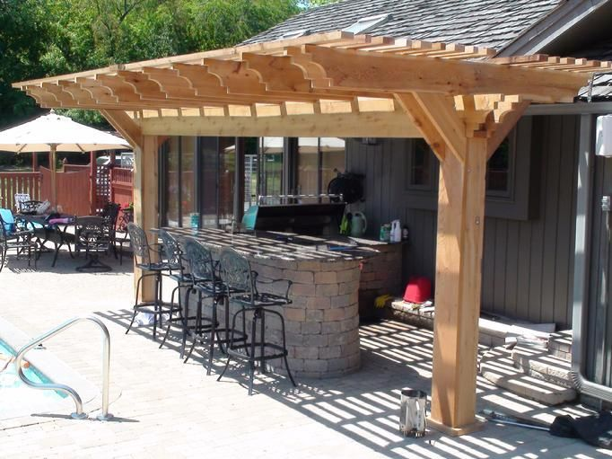 42 best images about pergola on pinterest decks pergola for Outdoor kitchen roof structures