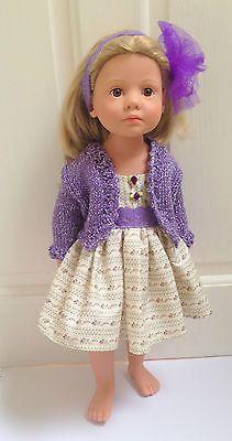 "18/20"" doll outfit Gotz Happy Kidz, Classic Kidz. Dress made from adapting patterns found at Pixie Faire.com. Bolero pattern by Debonair Designs."