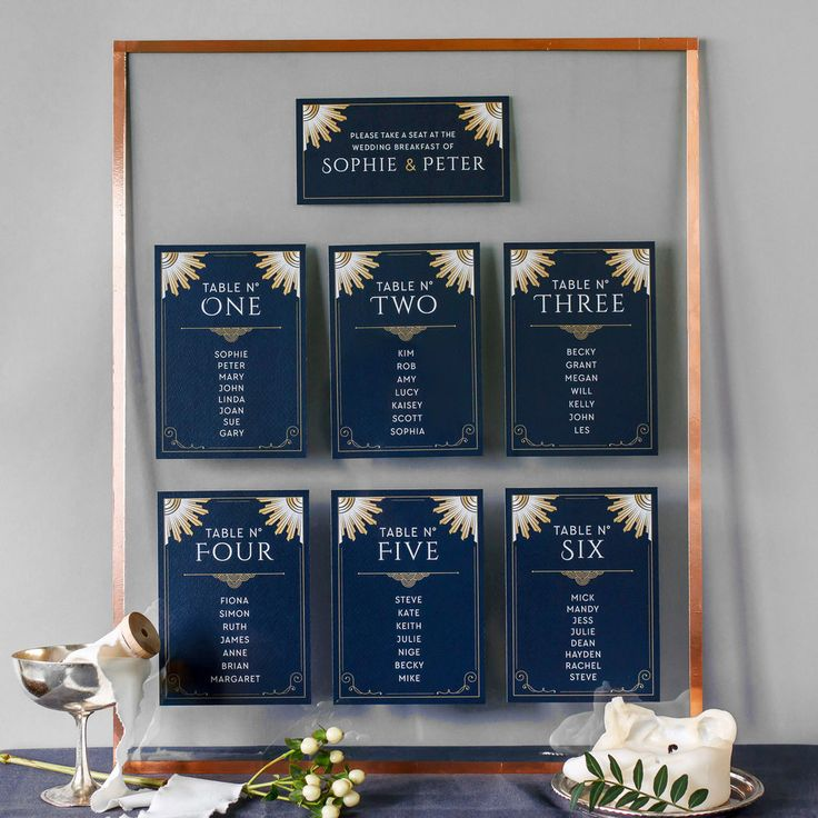 Modern Table Plan, Alternative Table Planner, Seating Planner, Seating Plan Chart, Table Plan Cards, Twenties, Great Gatsby, 1920s, Art Deco, Islington2.jpg