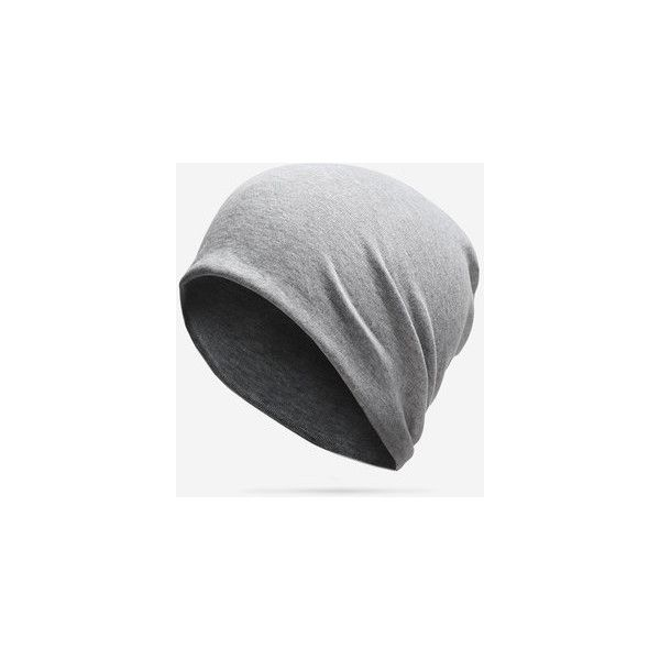 Casual Cotton Solid Skullies Beanies Hat ($9.34) ❤ liked on Polyvore featuring men's fashion, men's accessories, men's hats, light grey, mens beanie hats, mens cotton beanie hats and mens waxed cotton hat