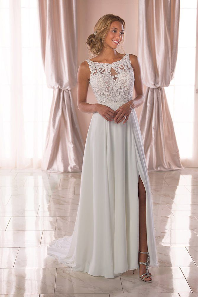 ab9ba0354454 Stella York 6871. | Wedding dresses in 2019 | Wedding dresses, Slit ...